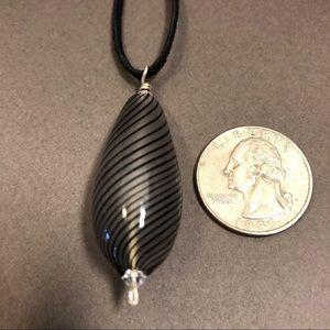 Jewelry - Hand blown glass bead pendant.